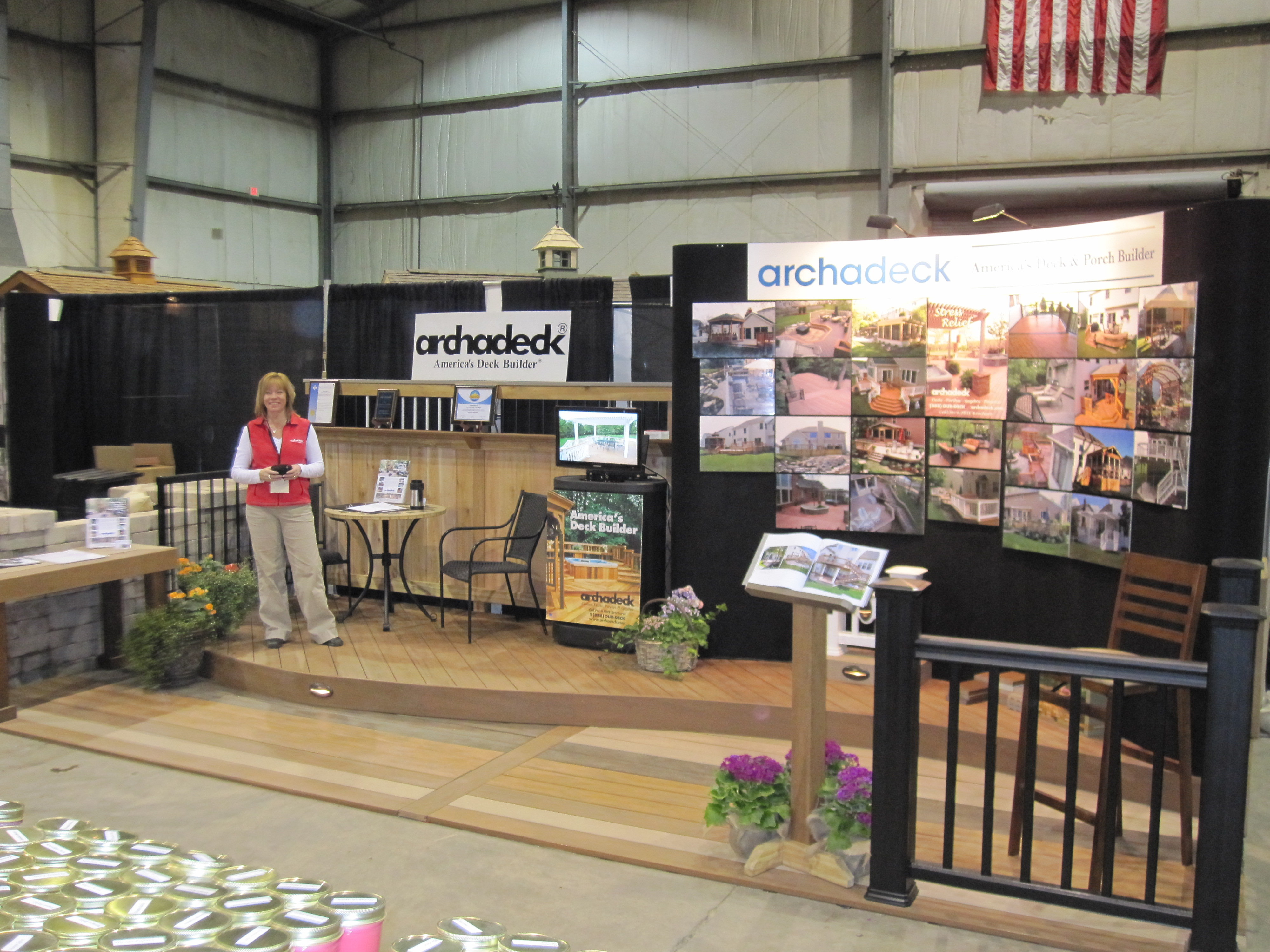 Home Show Display Features Low Maintenance Decking Columbus Decks Porches And Patios By Archadeck