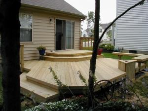 Supreme deck built with treated pine Livonia