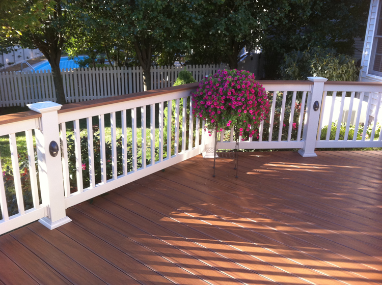Timbertech page 4 columbus decks porches and patios by timbertech in desert bronze w bronze post lights aloadofball Gallery