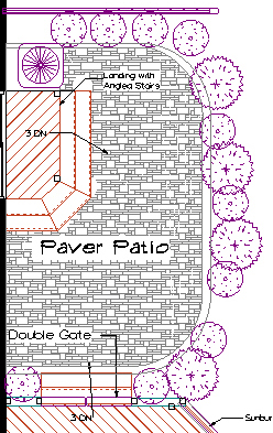 Archadeck Columbus paver patio architectural Rendering