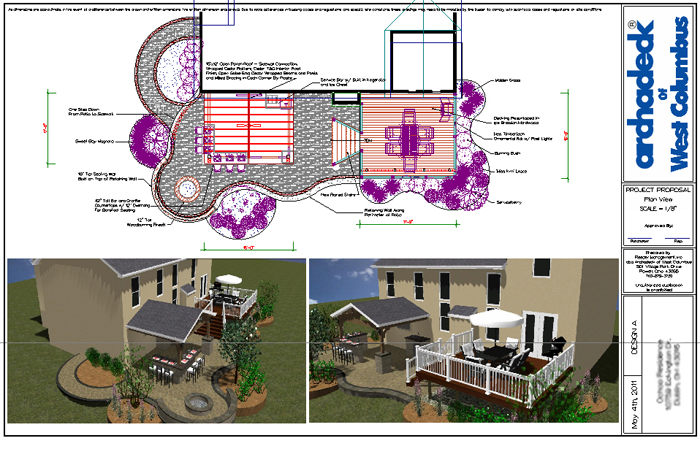 Dublin outdoor patio landscaping for Patio plans and designs