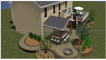 Another View Of This Great Rendering For A Hardscape Patio ...