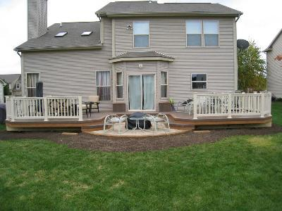 Columbus low to grade double deck with firepit
