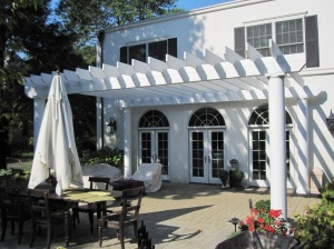 This photo shows one of the pergolas the homeowner chose