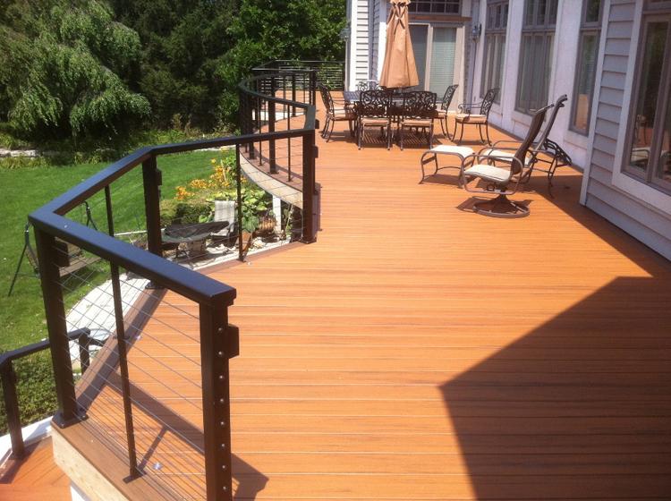 timbertech golf course deck columbus muirfield dublin oh. Black Bedroom Furniture Sets. Home Design Ideas