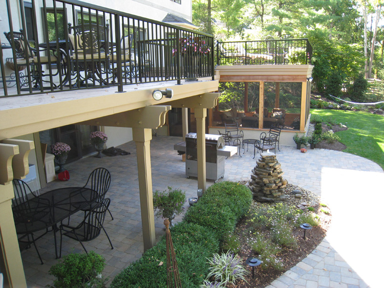 Double The Enjoyment By Adding A Patio To Your Deck Or