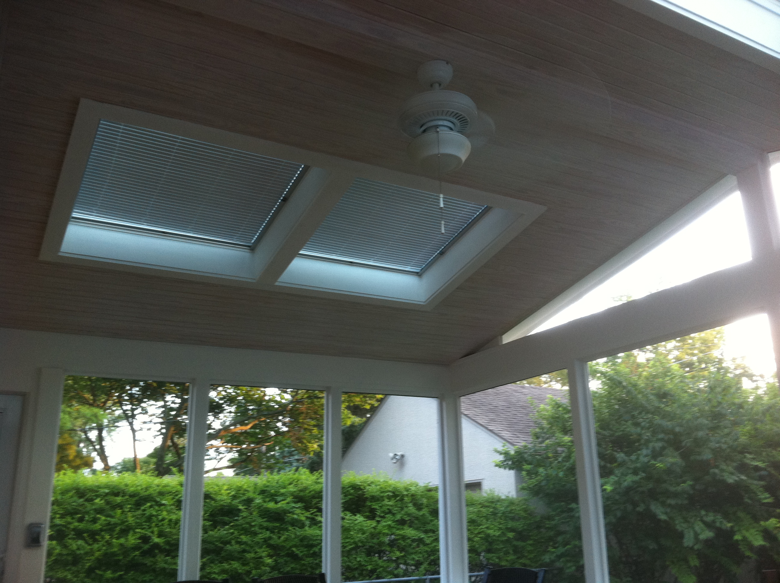 Choices in screened porch ceilings columbus oh columbus for Balcony ceiling