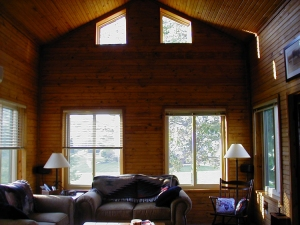 Sliding glass windows can turn your screen porch into a room for all seasons