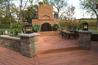 Multi_level_TimberTech_deck_with_outdoor_fireplace_Columbus_Archadeck