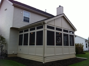 Powell, Oh screen porch exterior by Archadeck of Columbus