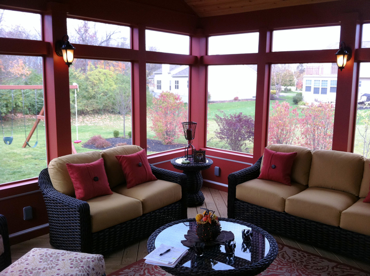 Beautiful Screened Porch Ideas : Building with cedar columbus decks porches and patios