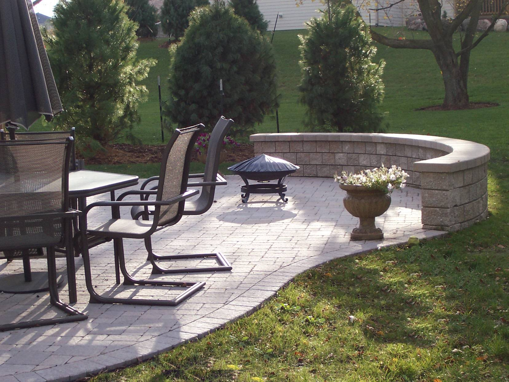 Paver Patio With Retaining Wall After Paver Patio Retaining Wall