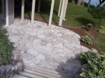 Pavestone flagstone patio Columbus OH