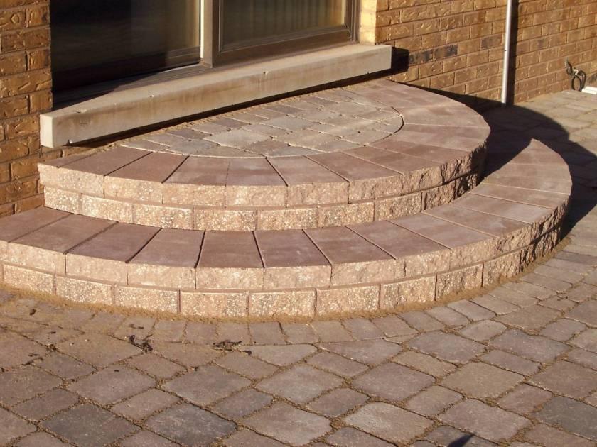 rounded paver stairs decorative design columbus oh columbus decks