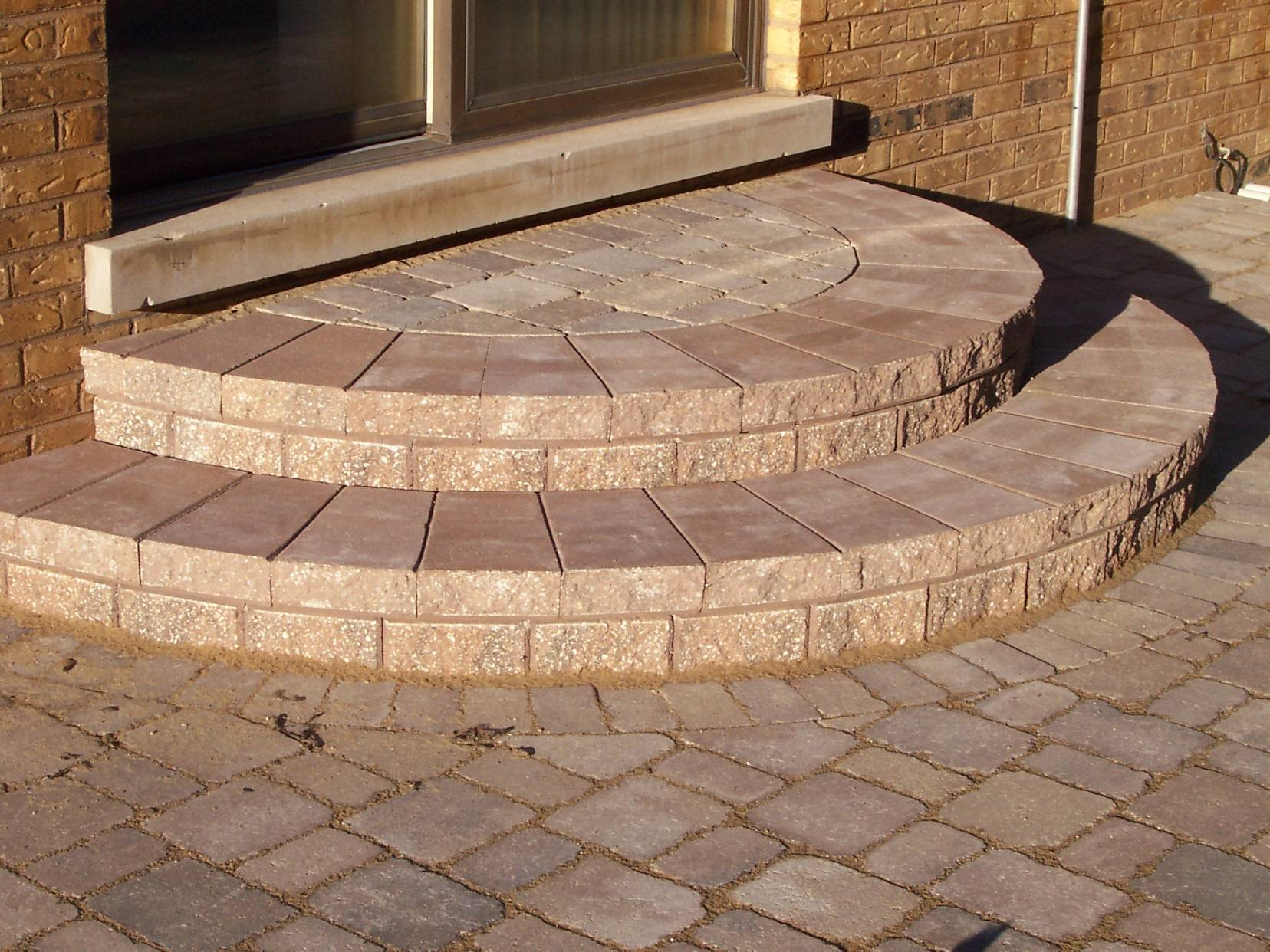 Rounded Paver Stairs Decorative Design Columbus OH