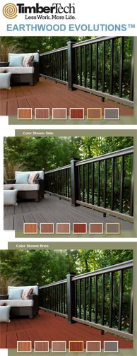 TimberTech earthwood evolutions new colors 2012 Archadeck Columbus