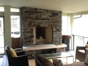 outdoor fireplace on screen porch columbus oh