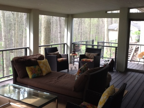 Upper Arlington Columbus OH screen porch TimberTech