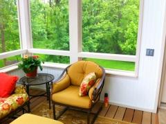 Interior details of Delaware screen porch
