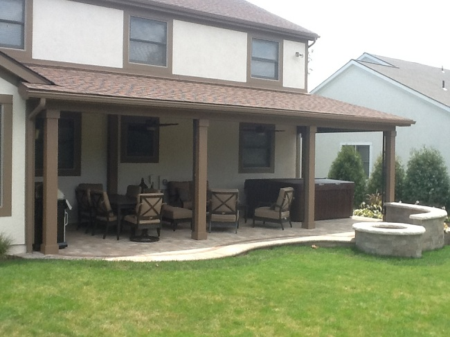 A new open porch patio and fire pit in gahanna oh by Open porches