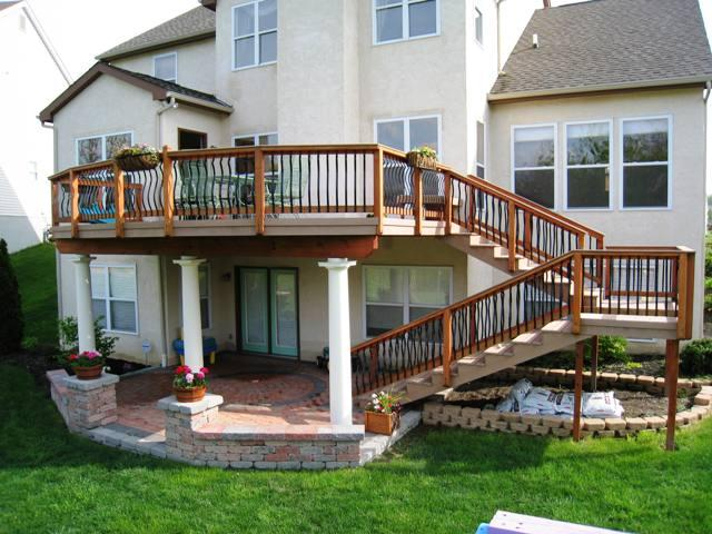 17 best ideas about two level deck on pinterest tiered deck backyard decks and deck 1000 images about deck stairs - Deck Stairs Design Ideas