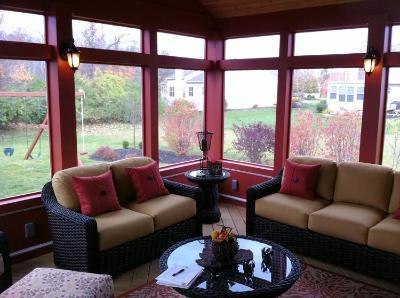 Powell Ohio Screened porch