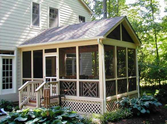 Post beam screened in porch joy studio design gallery best design - Screen porch roof set ...