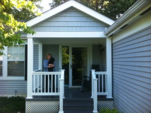 Front Porch with Vinyl Rails and TimberTech Decking