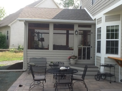 Columbus screen porch matches existing home perfectly