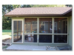 Columbus screened porch painted to match existing home