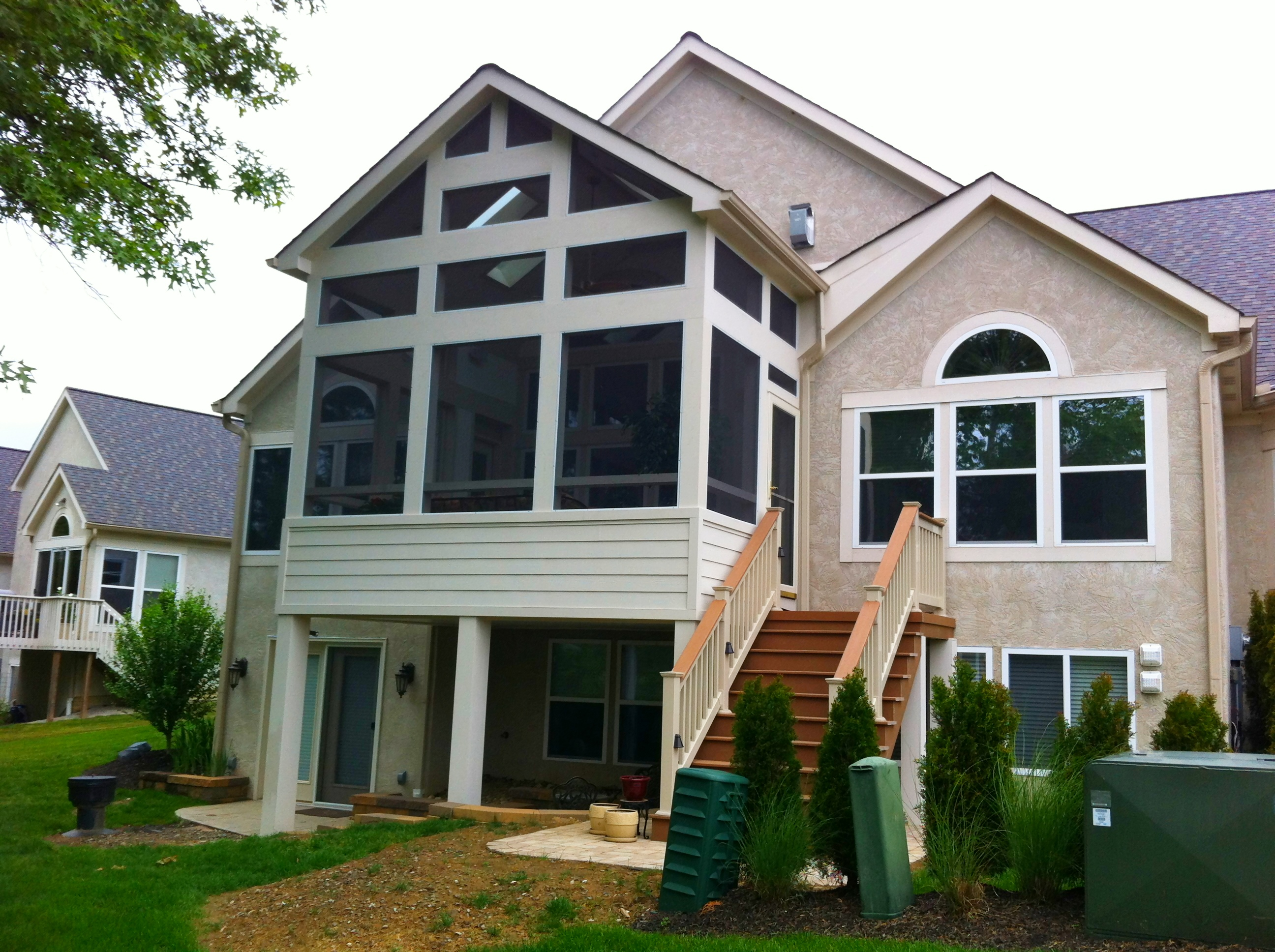 The design series columbus decks porches and patios by for Able to gable roofing