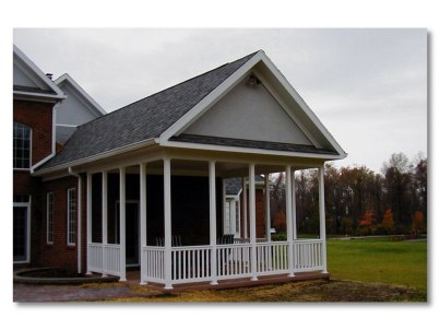 open porch Columbus vinyl low maintenance