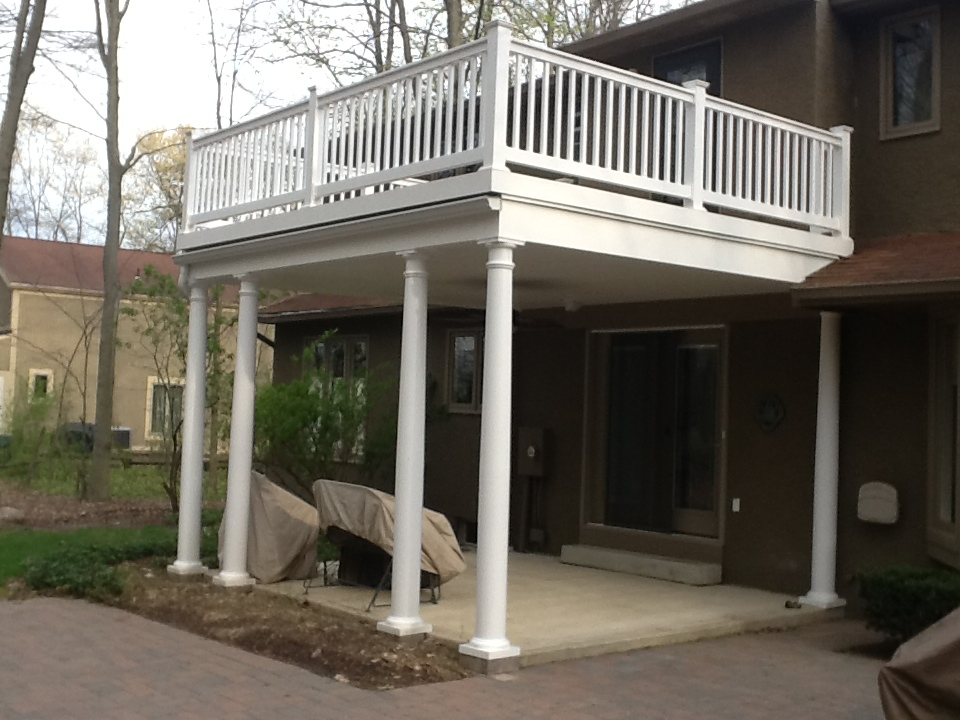 Covered porches columbus decks porches and patios by for Open beam front porch