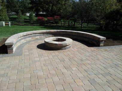 Columbus OH paver patio with fire pit
