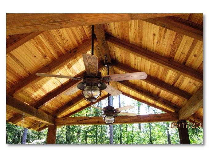 Columbus rustic open porch