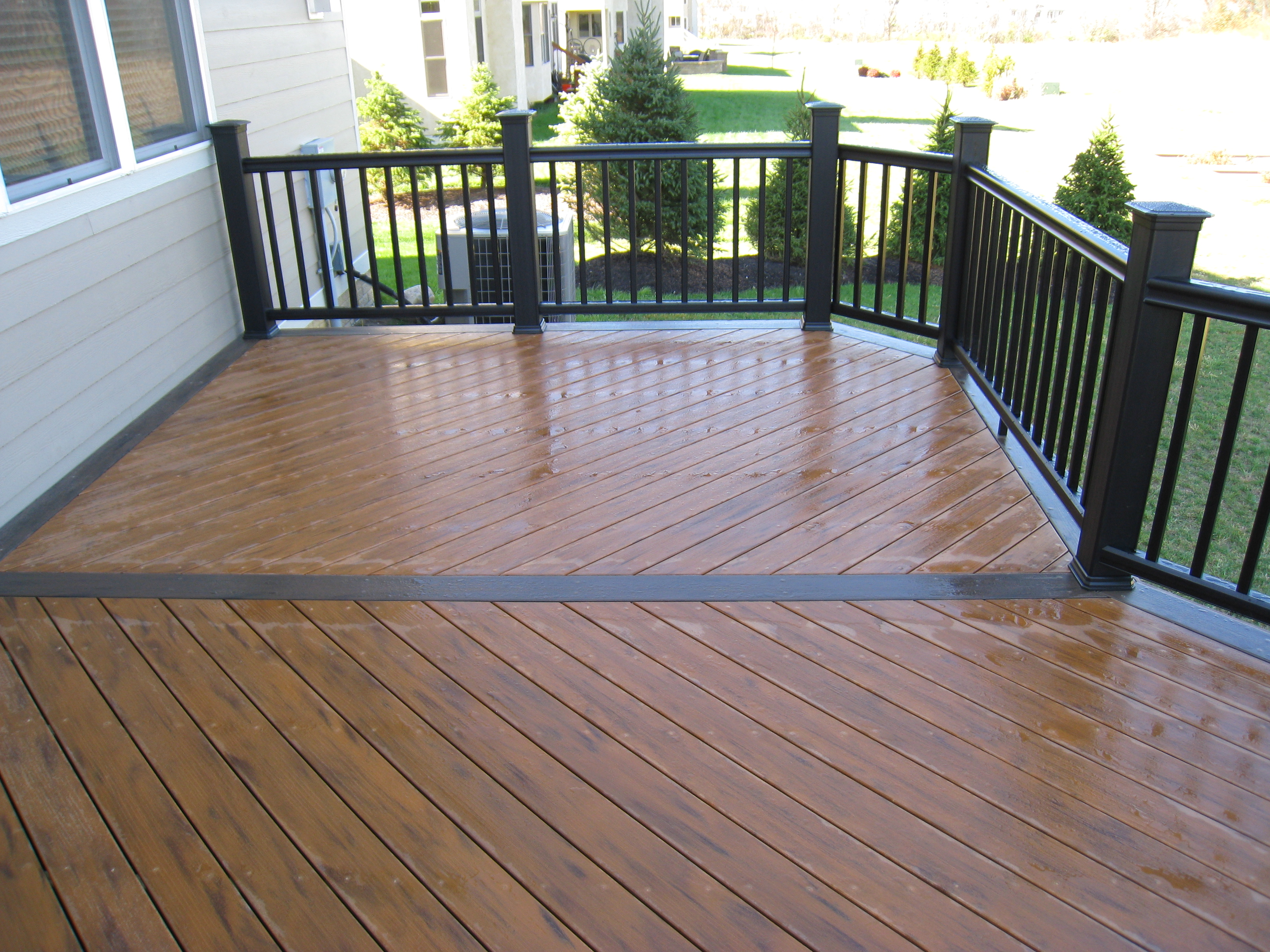 Composite decks columbus decks porches and patios by Terrain decking