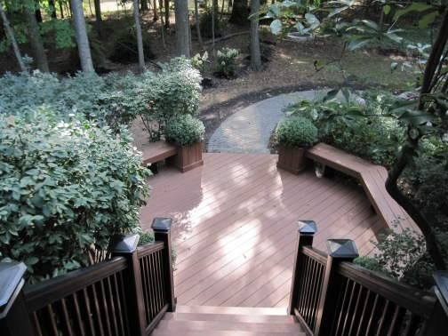 TimberTech XLM Harvest Bronze deck with TimberTech Radiance Rail Columbus