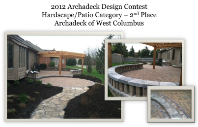 Archadeck of Columbus Design Contest winner 2012 patios hardscapes