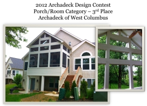 Columbus design contest winner elevated screened porch