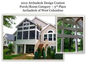 Columbus design contest winner elevated screened porch