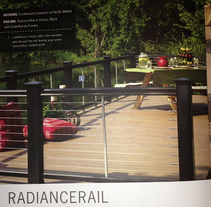 RadianceRail in the style of Feeney Cable Rail, endless views and endless beauty.