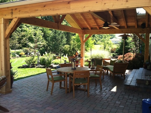 Columbus OH covered patio for dining and entertaining