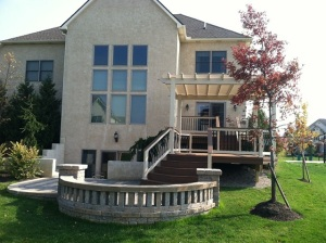 Columbus OH deck pergola and patio combination structures
