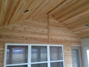 Columbus OH sunroom builder beadboard walls and ceiling