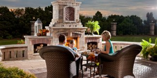 Fireplaces and fire pits using Unilock