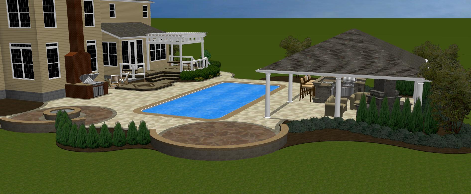 deck with pergola columbus oh u2013 columbus decks porches and patios