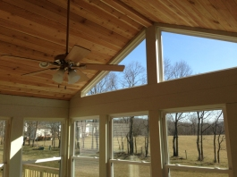 vaulted ceiling with glass for sunlight Columbus OH sunroom