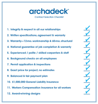 Our contract checklist outlines all the value you are getting at no extra cost to you.