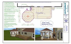 Columbus OH gazebo and spa deck design rendering