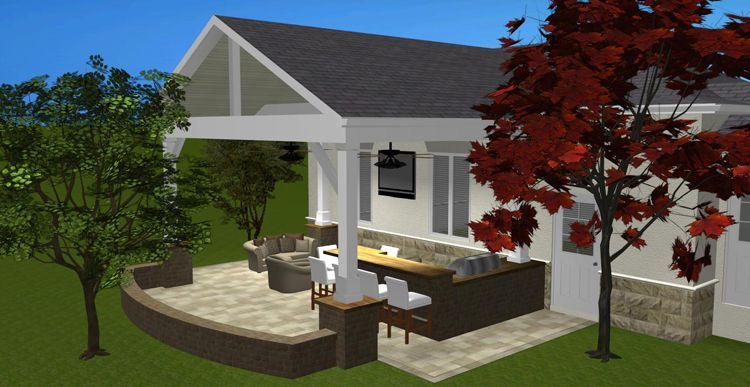 Archadeck of Columbus hardscapes and outdoor kitchen combinations